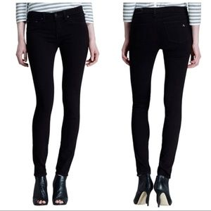 Rag & Bone The Legging Jeans in Black Plush